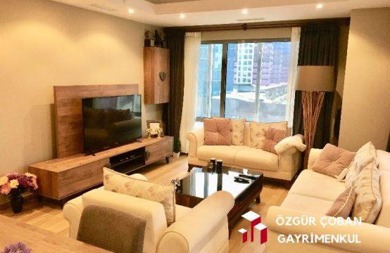 Maslak 1453te 3+1 Kiralık – L balkon, eşyalı (3bedroom)