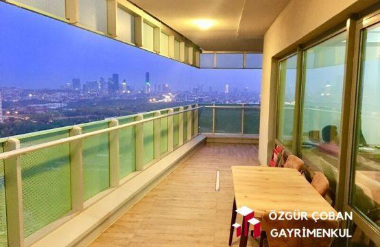 Maslak 1453 3+1 Satılık – nefis manzaralı yüksek kat (3bedroom)